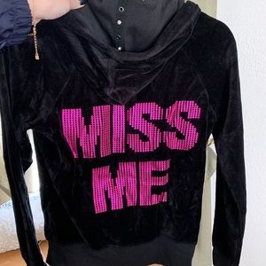 Miss Me Velour Jacket